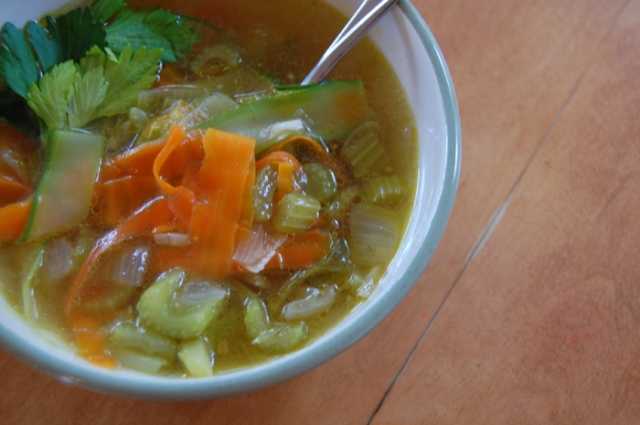 I've sorely missed chicken noodle soup, so this grain-free version is perfect for me.
