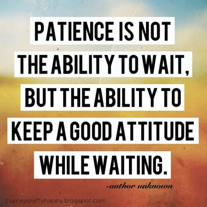 patience | Eating 4 Balance