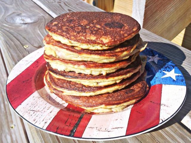 Paleo Strawberry and Chocolate Chip Pancakes