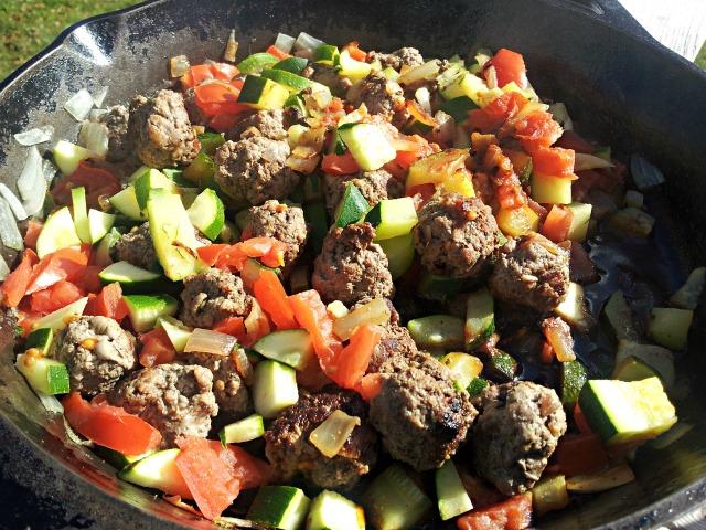 Meatball Zucchini Skillet
