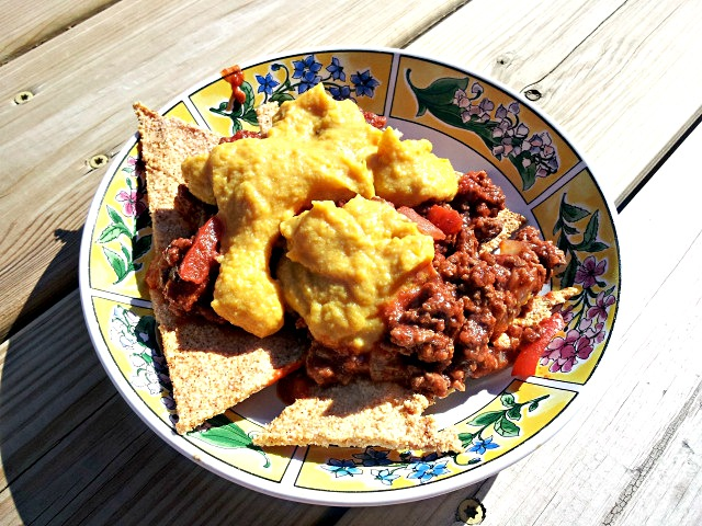 Chili, Chips and Cheeze (Paleo and Dairy-Free)