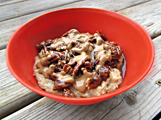 Banana and Maple Pecan Oatmeal