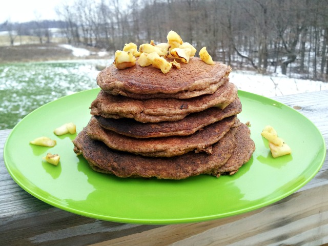 Easy Apple Cinnamon Pancakes (Grain-Free with Nut/Dairy-Free Options)
